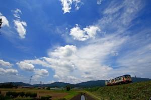 信楽高原鐵道夏の空